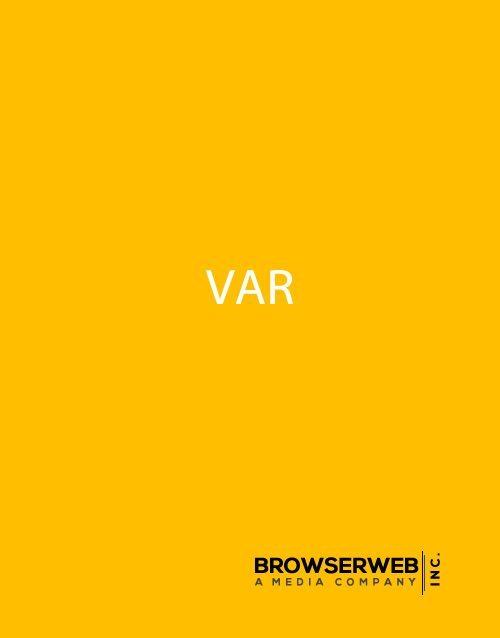Value Added Reseller or VAR | VAR and Technology Domain Name(s)